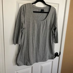 Gray Cynthia Rowley 3/4 Sleeved Top